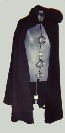 Black fencing jacket